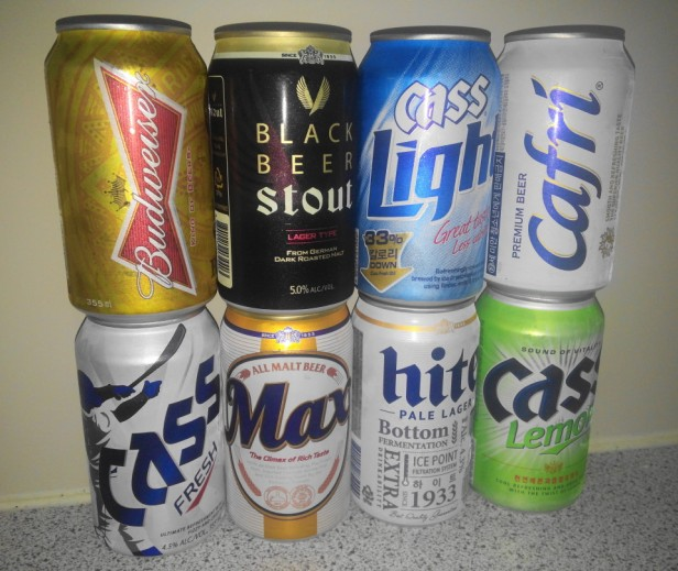 South Korean Beers Cans