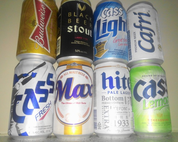 South Korean Beers Cass Hite Max