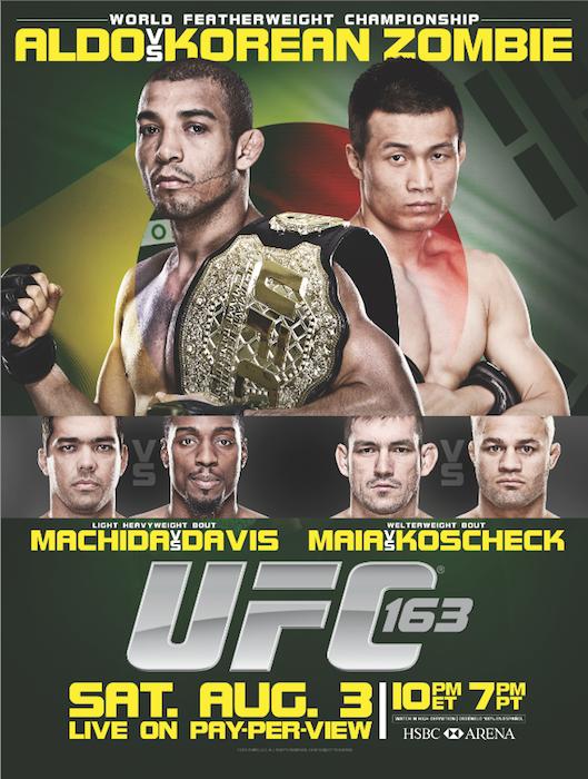 UFC 163 Aldo vs. Korean Zombie Poster