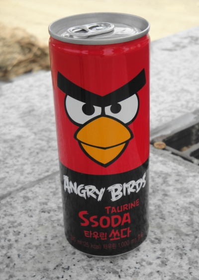 Taurine Angry Bird Soda - South Korea