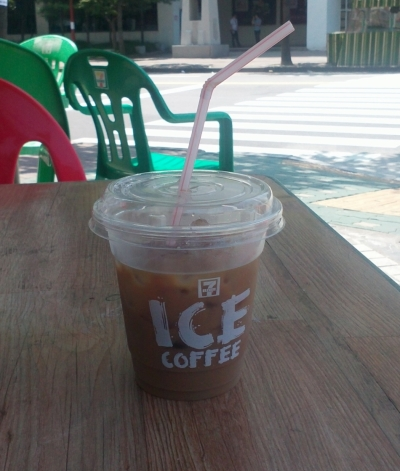 ₩1000 Ice Coffee from Seven Eleven