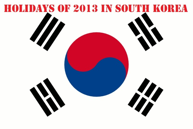 2013 holidays in South Korea