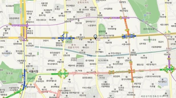 Aladin Jongno Map