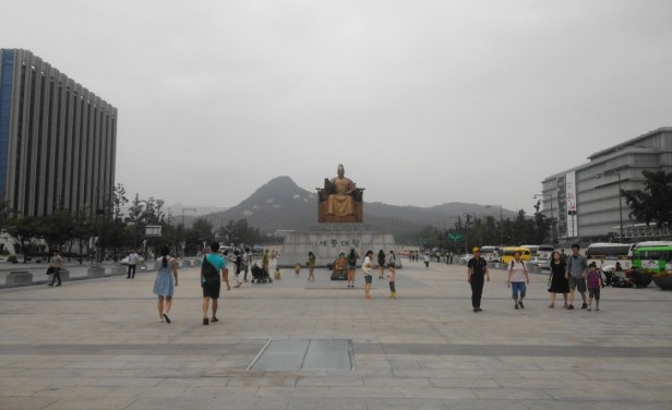 Gwanghwamun Square King Sejong far