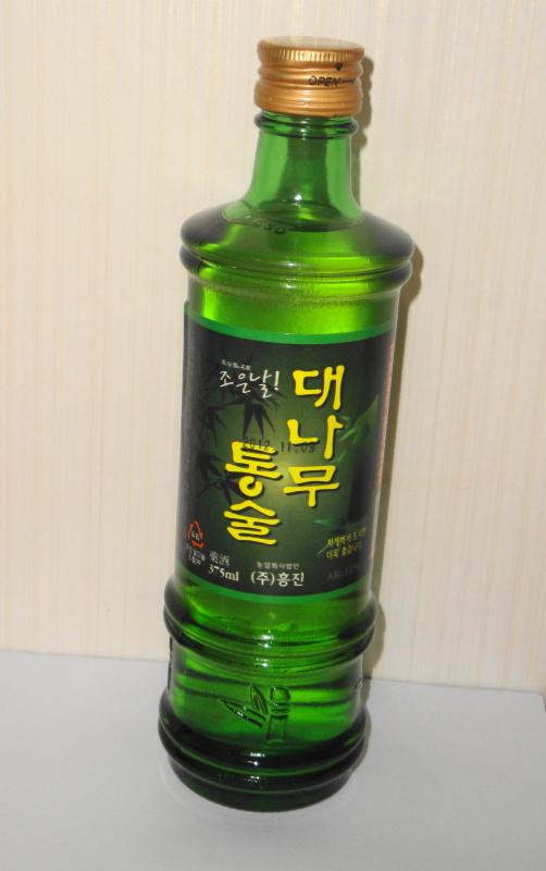 Korean Bamboo Soju bottle 2