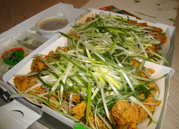 Korean Spring Onion Chicken Pa Dak 1