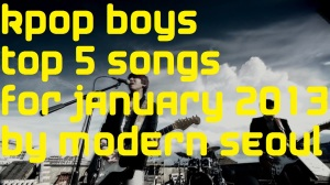 KPOP Boys January Top 5 Chart