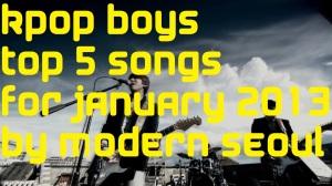 KPOP Boys January Top 5 Chart