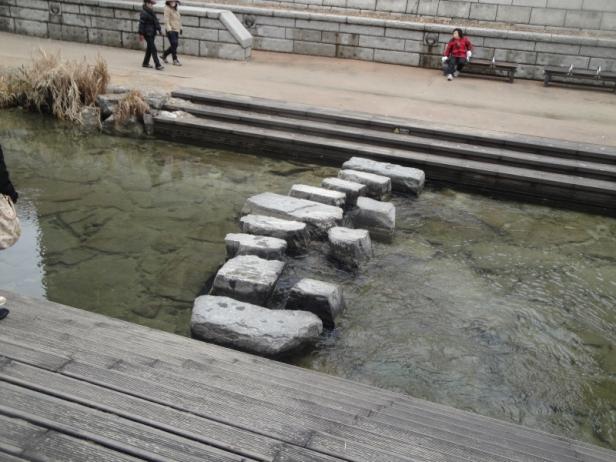 Cheonggyecheon Stream Stepping Stones