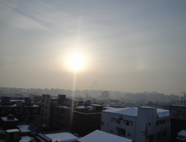 Winter Sunrise in South Korea