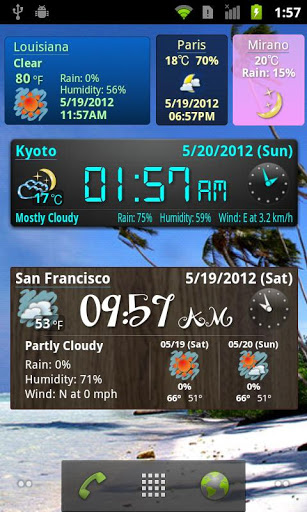 World Weather Clock and Widget