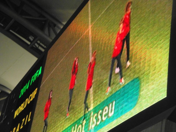 4Minute on the Big Screen, spot the spelling mistake.