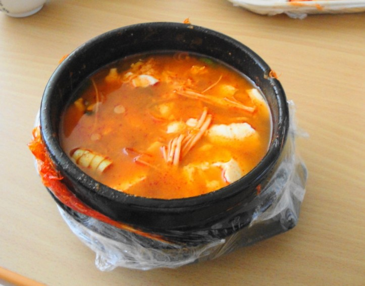 Korean Delivery Food Tofu Soup 1