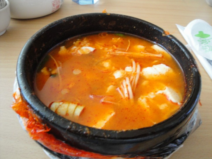 Korean Delivery Food Tofu Soup