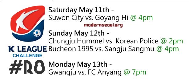 K League Challenge 2013 Round 8