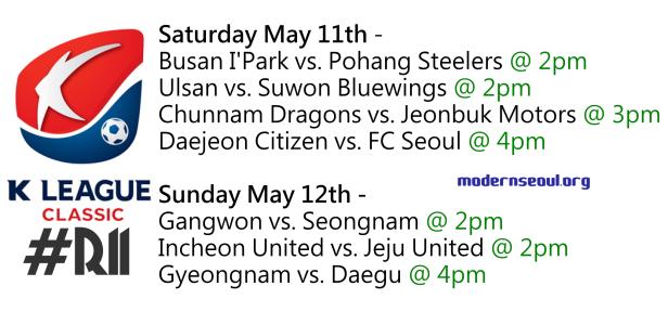 K League Classic 2013 Round 11