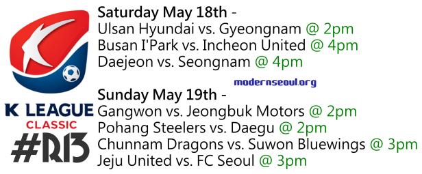 K League Classic 2013 Round 13