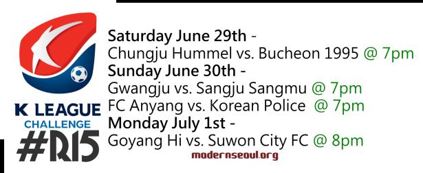 K League Challenge 2013 Round 15