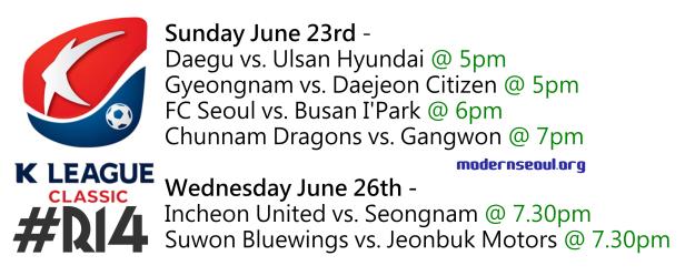 K League Classic 2013 Round 14