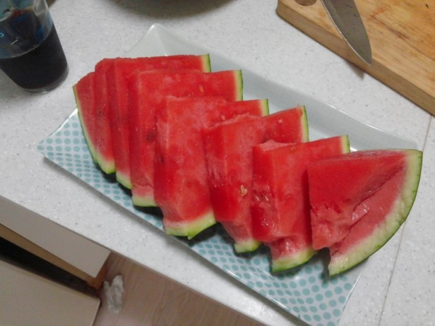 Korean Watermelon Sliced finished