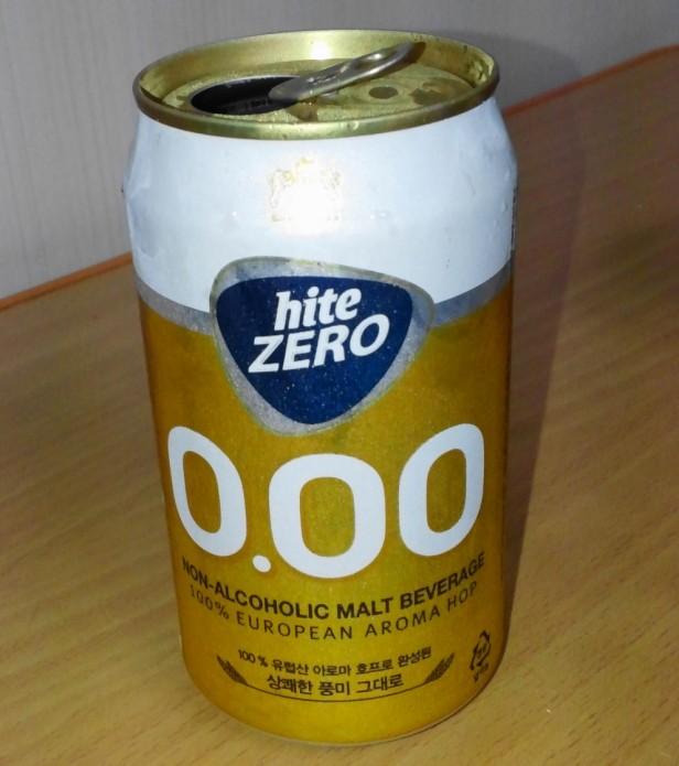 Hite Zero Can - Korean Non Alcoholic Beer 1