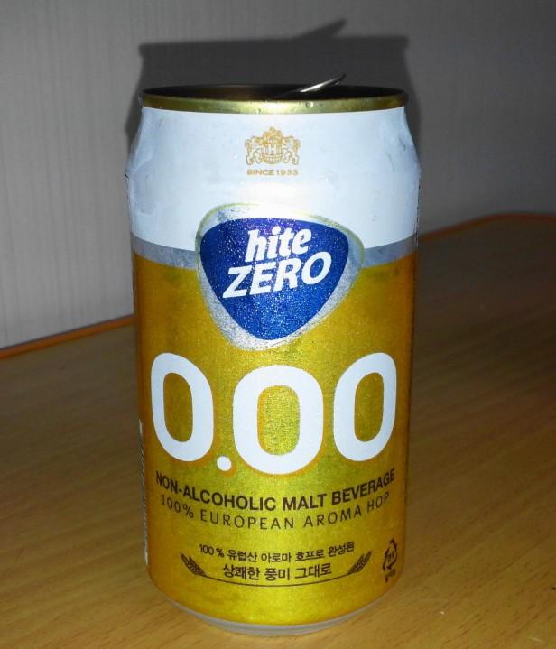 Hite Zero Can - Korean Non Alcoholic Beer 2