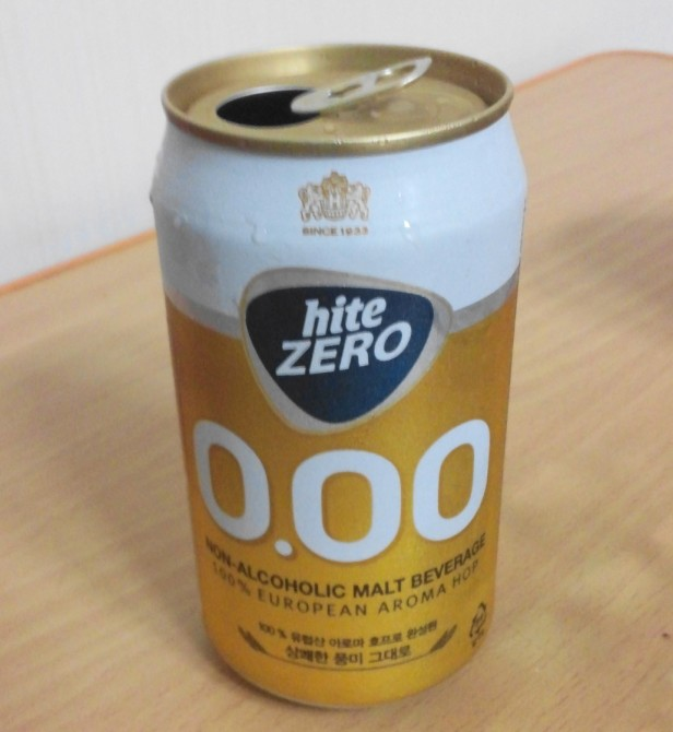 Hite Zero Can - Korean Non Alcoholic Beer