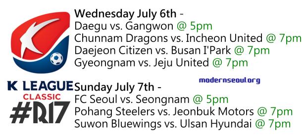 K League Classic 2013 Round 17