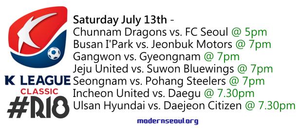 K League Classic 2013 Round 18