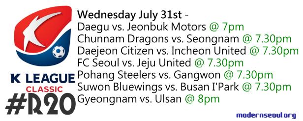 K League Classic 2013 Round 20