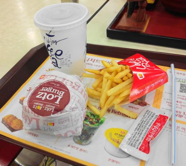 Lotz Burger Set Lotteria Korea