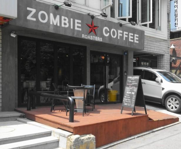 Zombie Coffee Hongdae Seoul - front