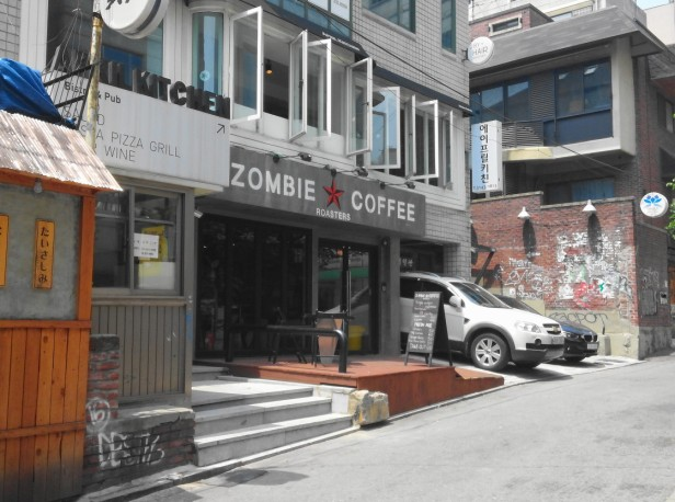 Zombie Coffee Hongdae Seoul - Outside