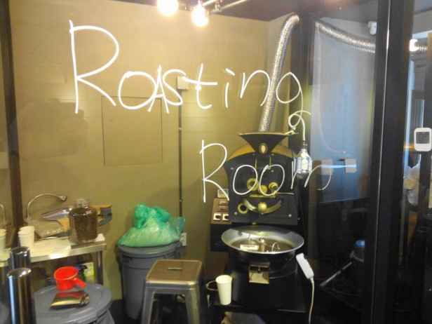 Zombie Coffee Hongdae Seoul - roasting room