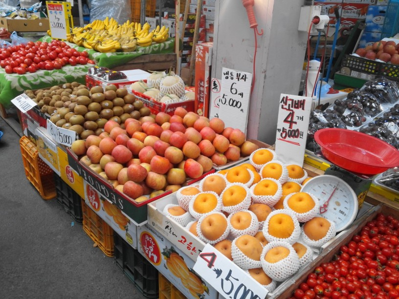 India to imports South Korean Fresh fruits