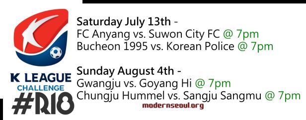 K League Challenge 2013 Round 18