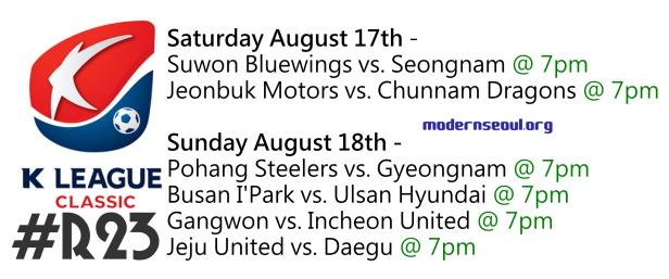 K League Classic 2013 Round 23
