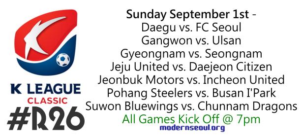 K League Classic 2013 Round 26