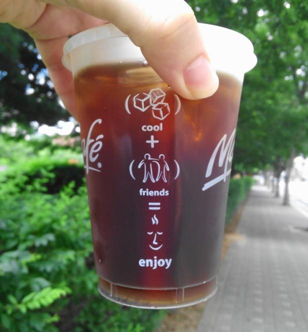Iced Coffee Info Side - McDonalds Korea
