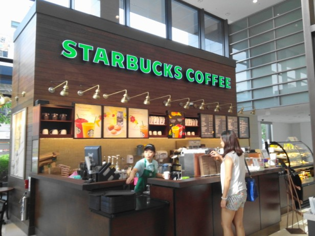 Inside Starbucks in Incheon, South Korea