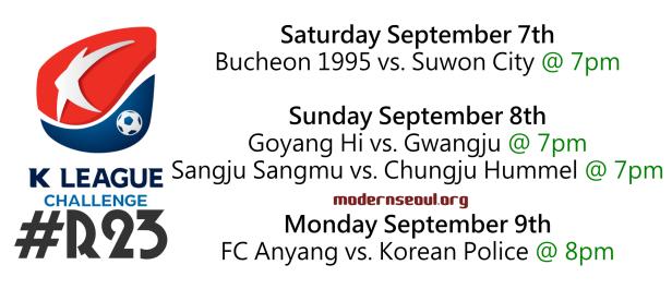 K League Challenge 2013 Round 23