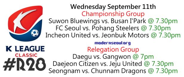 K League Classic 2013 Round 28