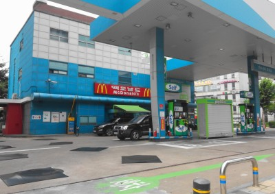 McDonald's at a Gas Station in South Korea