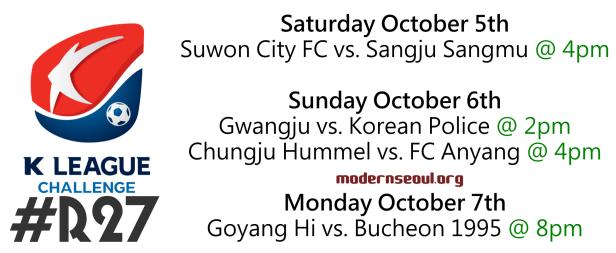 K League Challenge 2013 Round 27 u