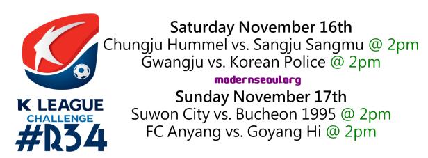 K League Challenge 2013 Round 34
