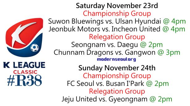 K League Classic 2013 Round 38