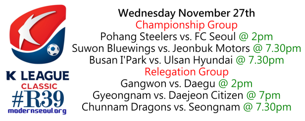 K League Classic 2013 Round 39 a