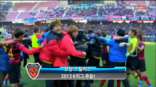 Pohang Steelers winning the K League Classic 2013