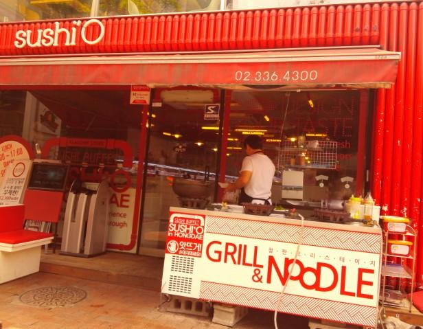 Sushi O Hongdae Sushi Buffet - Front