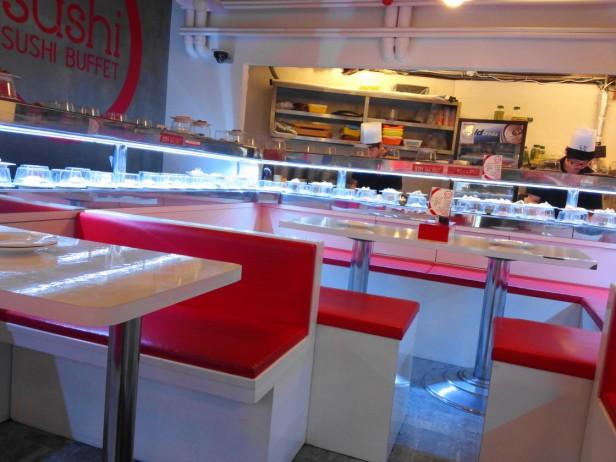 Sushi O Hongdae Sushi Buffet - Inside